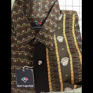 Karl Lagerfeld tribute Medusa new unique shirt XL